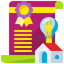 business, creativity, idea, intellectual, patent, property, protection icon