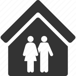 family, home, house, living room, love, people, residential icon