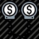 dollar, handcuffs, money, tied