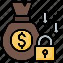 bag, cash, cross, money, protection
