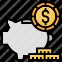 bank, money, piggy, save, savings