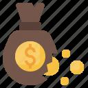 bag, bankrupt, money