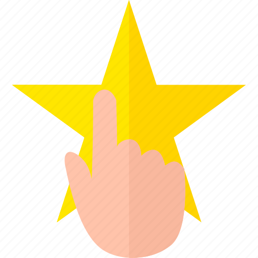 hand, pointing, rate, rating, star icon