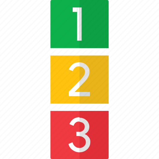 first, level, numbers, one, second, three, two icon