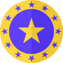 approval, featured, recommended, shield, star, stars, suggested icon