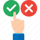 approval, hand, pointing, recommendation, recommended, suggestion icon