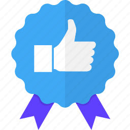 approval, badge, like, recommendation, suggestion, thumb, up icon