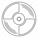 disco, line, outline, record, sound, thin, vinyl icon