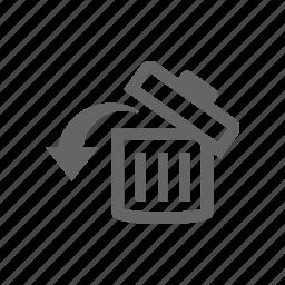 delete, remove, restore, trash, undo icon