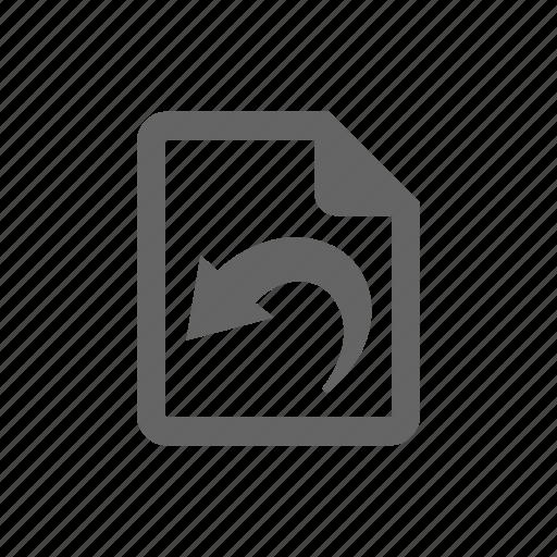 document, documents, file, paper, repair, return icon