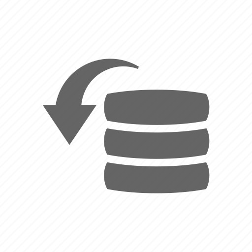 arrow, data, database, restore, storage icon