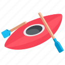 boat, canoe, canoe with oar, canoeing, kayak icon