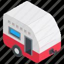 camping van, caravan camper, transport, traveling in caravan, vanity van icon