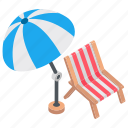 beach, beach bed, beach side, sun tanning, sunbath icon