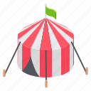 amusement, carnival, circus, circus tent, festive icon