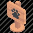 animal house, elephant footprint, wildlife park, zoo, zoological garden icon