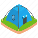 camp, campfire, camping, outdoor accomodation, tent icon