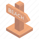 beach guide, beach side, beach signpost, guidepost, signpost