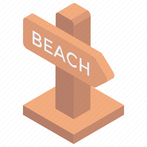 beach guide, beach side, beach signpost, guidepost, signpost icon
