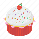 bakery food, cupcake, dessert, muffin, snack icon