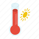 meteorology, summer, temperature measurement, thermometer, weather icon