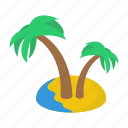 beach, coastal area, coconut trees, island, palm trees, tropical trees icon