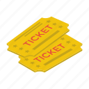 air tickets, entry tickets, pass, traveling coupons, visa icon
