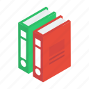 archives, books, data, file folders, files icon