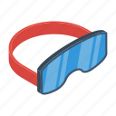eyewear, ski goggles, snowboarding goggles, specs, swimming goggles icon