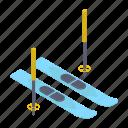 skateboard, skiing board, snow skateboard, sports equipment, winter sports icon