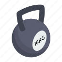 exercise, fitness, kettlebell, powerlifting, weight tool, weightlifting icon