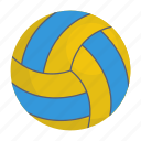 ball, sports ball, sports equipment, volleyball icon