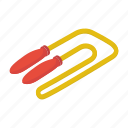 athlete rope, fitness, jump rope, jumping string, skipping rope, sports equipment icon