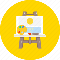 art, creative, draw, equipment, paint, painting, watercolor icon