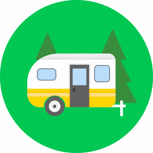 adventure, camping, motorhome, nature, summer, travel, vacation icon
