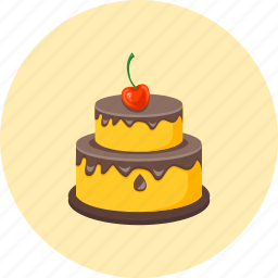 cake, chocolate cake, cook, cooking, dessert, food, gastronomy icon