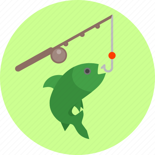 fish, fishing, fishing rod, hobby, hook, recreation, sport icon