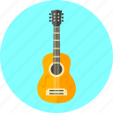 guitar, instrument, media, music, musical, play, sound icon