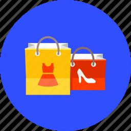 bags, basket, buy, cart, hobby, shop, shopping icon