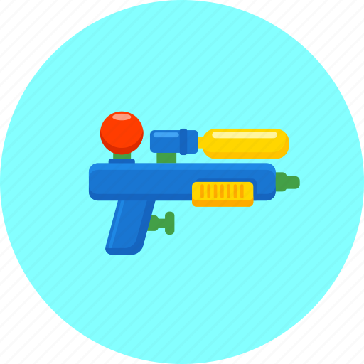 child's play, kids, plaything, toy, water gun, water toy, weapon icon