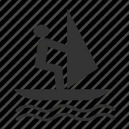 ocean, sailboat, vessel, water icon