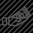 arm, bribe, cash, dollar, donation, hand, money icon