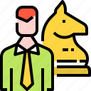 chess, employee, headhunting, jobs, management, strategy icon