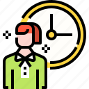 business, career, employee, human, management, time, user icon