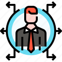 business, employee, headhunting, human resources, jobs, leader, user icon