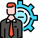 business, employee, gear, headhunting, human resources, jobs, setting icon
