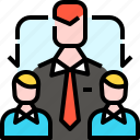 business, employee, human resources, jobs, leader, leadership, team icon
