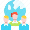 business, company, global, network, outsourcing, user icon