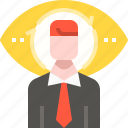 business, employee, headhunting, human resources, jobs, man, user icon