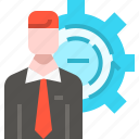 employee, gear, headhunting, human resources, jobs, setting, user icon